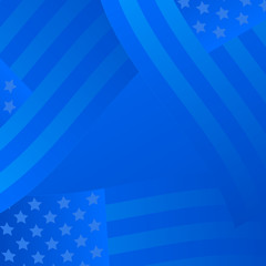 United States background in blue