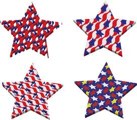 usa star and flag theme