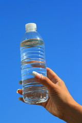 Woman's Hand Holding Water Bottle