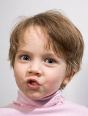 Funny little girl