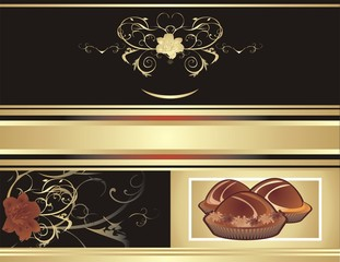 Abstract background for wrapping. Chocolate candies