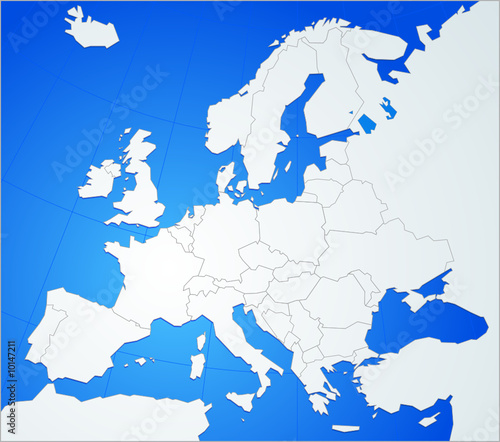 carte europe stylisee