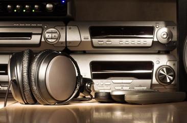 Audio equipment. Dark night lightning.