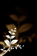 white branch on black background