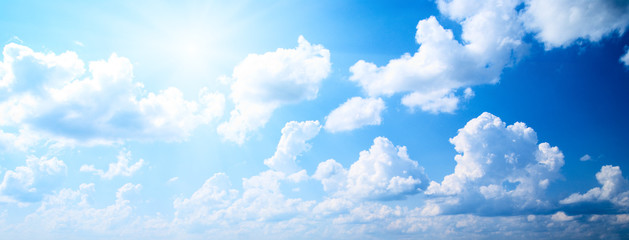 Aluminium Prints Heaven perfect blue sky