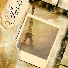 Wall Mural - Parisian pictures - vintage photoalbum