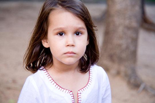 a little serious girl