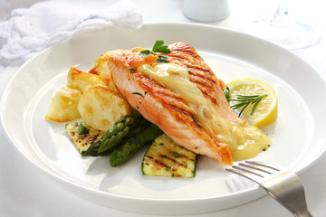 Atlantic salmon grilled to perfection