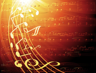 musical notes -vector background
