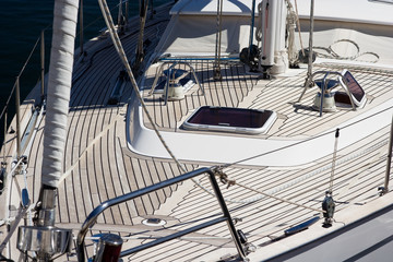 Detail image of a yacht