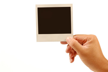 blank polaroid picture