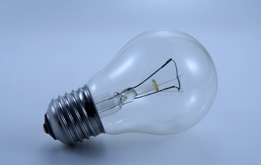 Blue tinted image of electric bulb