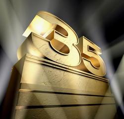 35 birthday monument
