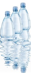 Mineral water bottles isolated