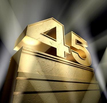 45 birthday monument