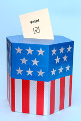 American style ballot box