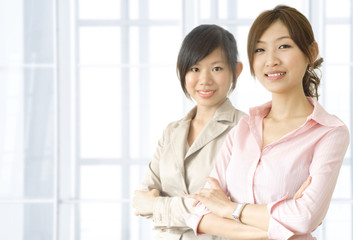 Asian business women in office environment