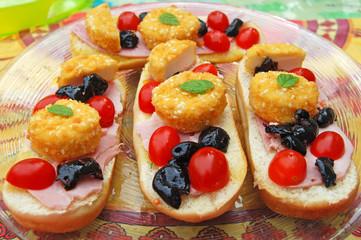 Assiette de Tapas colorés