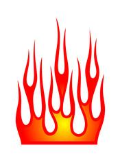 Flamme Flammen Flame Flames Vektor