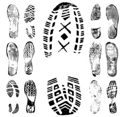 Footprint traces collection 1