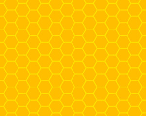 orange and yellow honeycomb ornament