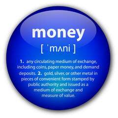 """money"" definition button"