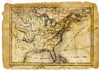 ancient map of eastern Usa