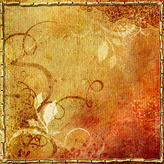 vintage background in autumn colors