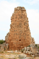Turkey, Perge.Ancient tower ruins.