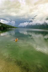 The Bohinj Lake in Slovenia
