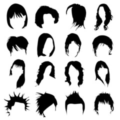 hair design vector (women and men)