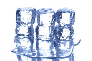 Ice and water drops