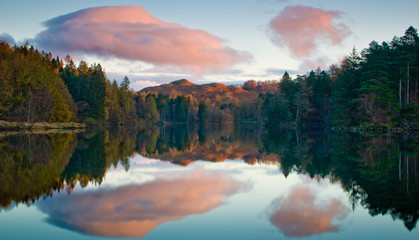 Tarn Hows early moring reflection