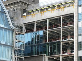 Façade d('immeuble en construction, Région de paris.