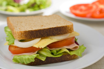 A delicious and healthy sandwich