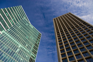 Two office buildings in Downtown Vancouver