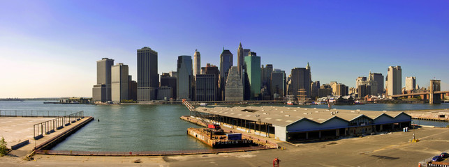 manhattan island in new york usa