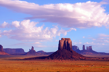 View from Artist's Point and Merrick Butte at Monument Valley.