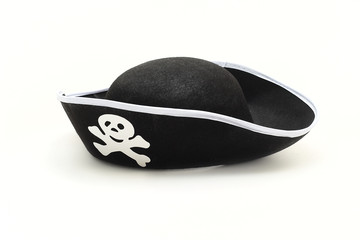 Hat pirate isolated on white background