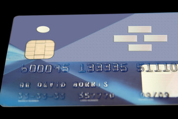 fake bank card ( totaly remade ) on a black background