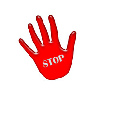 stop,hand,rot,karte