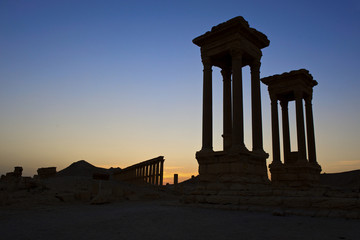Griechisch-römische Ruine in Palmyra, Syrien