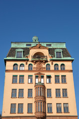 Building in 'Gamla Stan' - old part of Stockholm