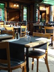 restaurant brasserie table mise