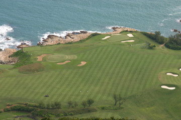 Aerial view of Shek O - Country Club golf course in Hong Kong