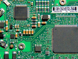 Printed circuit board on a hard disk