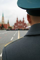 soldato, Piazza Rossa, Mosca, Russia