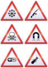 Panneaux de signalisation métal de danger exotique (détouré)