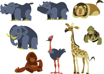 African cartoon animals