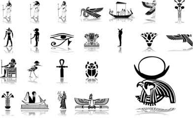 Big set icons. Egypt